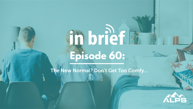 two lawyers work side by side at home, which is not a great idea for several reasons discussed in this podcast episode